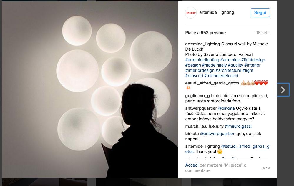 Instagram Artemide