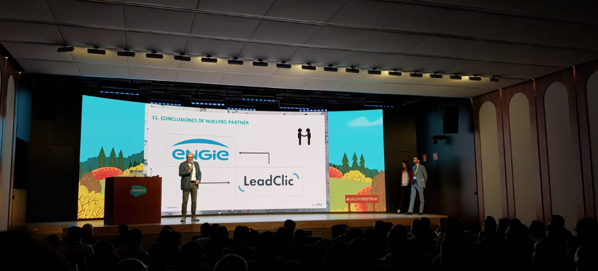 leadclic y engie en el evento de salesforce